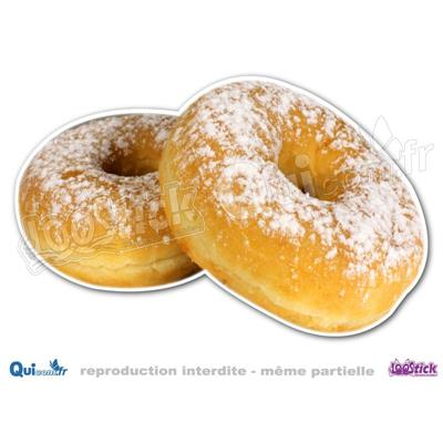 Autocollant Donuts Sucre Glace