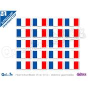 autocollant RECTANGLE BLEU BLANC ROUGE