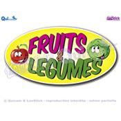 Autocollant Cartoon lettrage FRUITS & LEGUMES