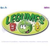 Autocollant Cartoon lettrage LEGUMES