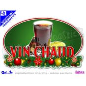Sticker autocollant VIN CHAUD DECOR NOEL résistant UV