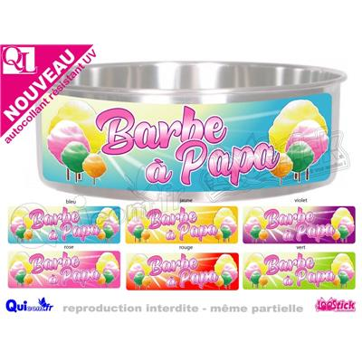 Sticker BANDEAU CUVE MACHINE BARBE A PAPA 60x20cm ref 4