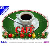 Sticker autocollant CAFE DECOR NOEL résistant UV
