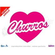 Sticker Churros Titre Coeur