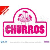 Sticker Churros Titre Cornet
