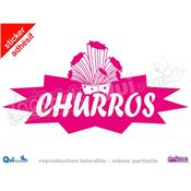 Sticker Churros Titre Eclaté