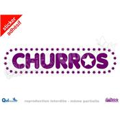 Sticker Churros Titre Etoiles