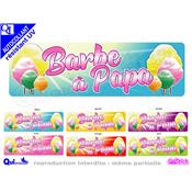 Sticker BANDEAU BARBE A PAPA ref 4 autocollant resistant UV