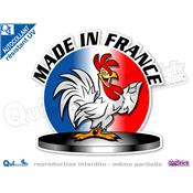 Autocollant MADE IN FRANCE COQ PODIUM
