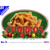 Sticker autocollant CHURROS DECOR NOEL résistant UV