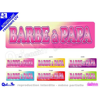 Sticker BANDEAU BARBE A PAPA ref 1 autocollant resistant UV