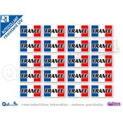autocollant RECTANGLE FRANCE BLEU BLANC ROUGE