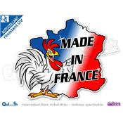 Autocollant MADE IN FRANCE COQ CARTE
